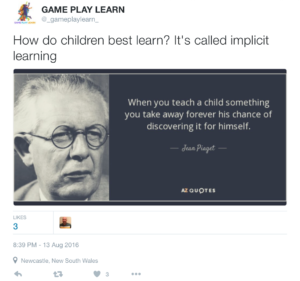 Implicit learning Piaget quote